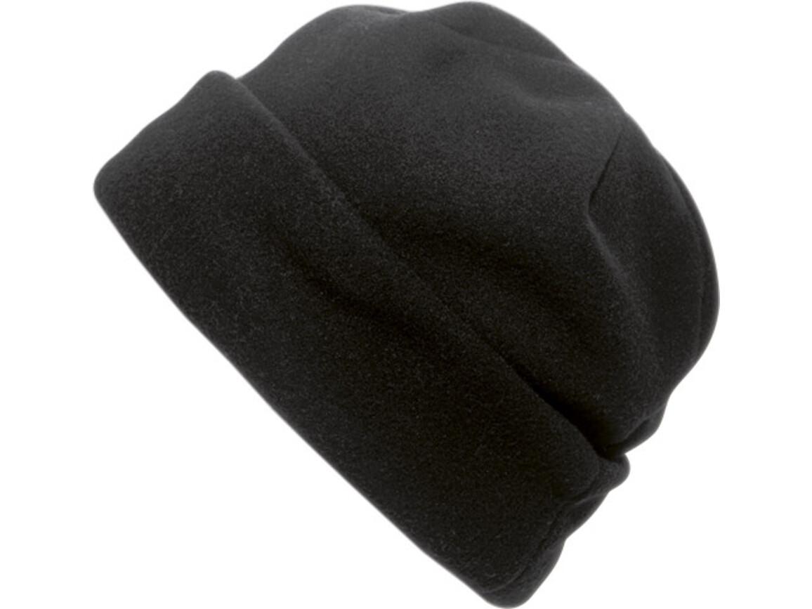 Fleece-Mütze 'Brixen' aus Polyester-Fleece – Schwarz bedrucken, Art.-Nr. 001999999_1741
