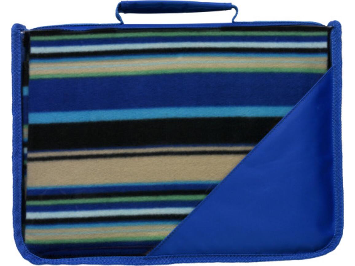 Fleece-Picknickdecke 'Shower' – Kobaltblau bedrucken, Art.-Nr. 023999999_1923