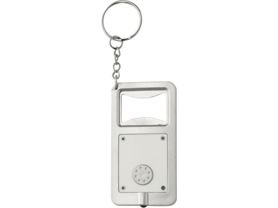 Schlüsselanhänger 'Kalvin' aus Kunststoff – Weiß bedrucken, Art.-Nr. 002999999_1991
