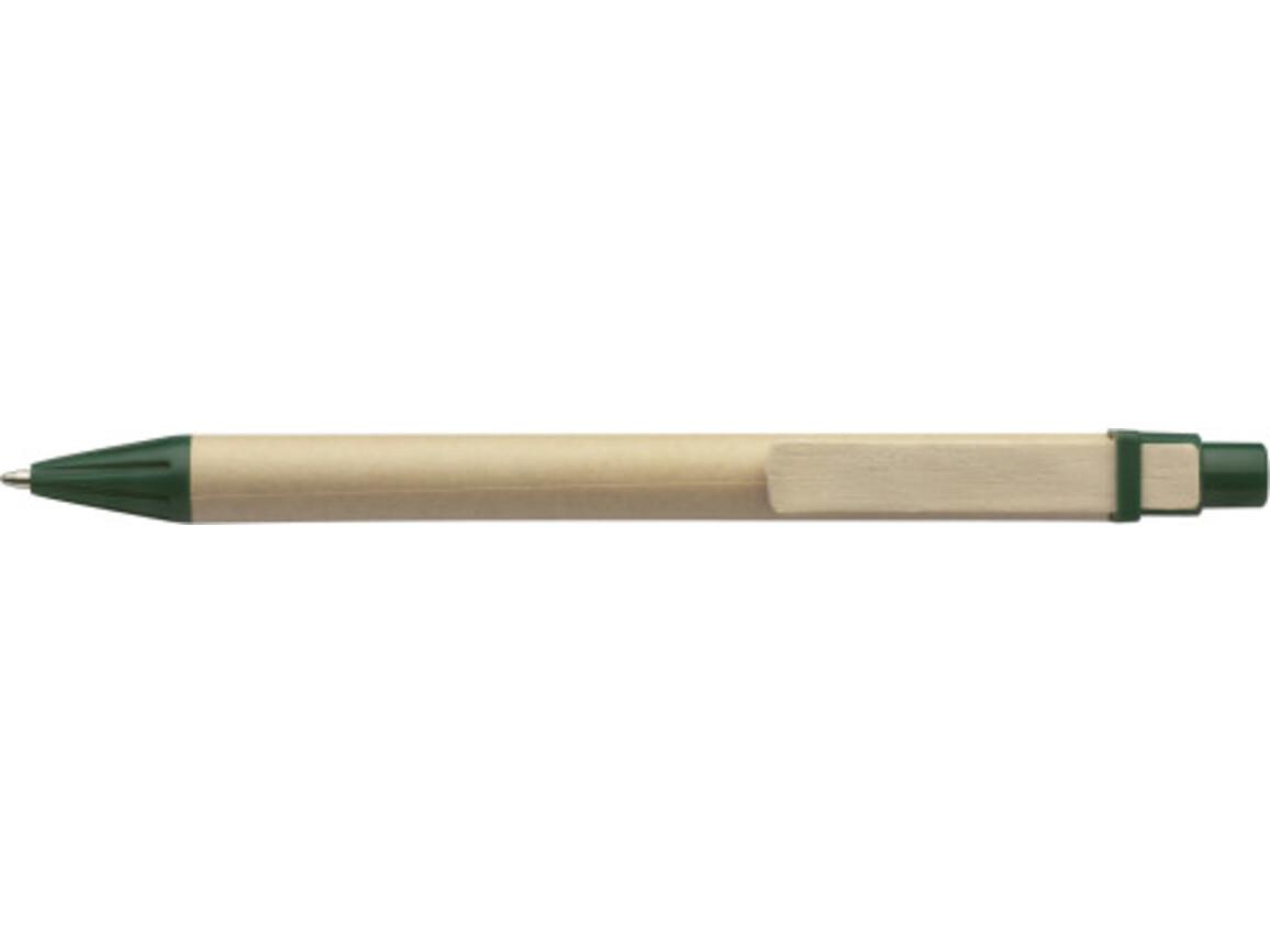 Kugelschreiber aus Pappe – Grün bedrucken, Art.-Nr. 004999999_2019