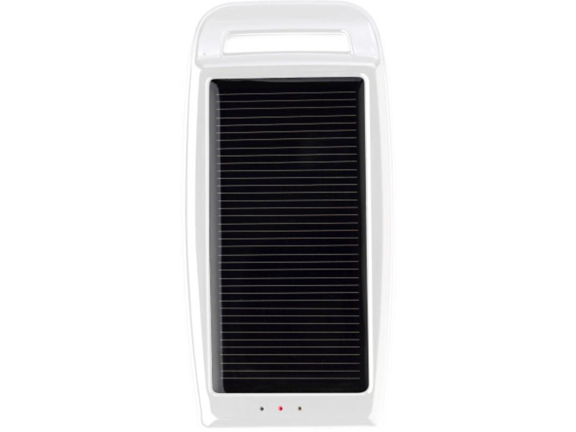 Solar-Aufladegerät 'Booster' aus Kunststoff – Weiß bedrucken, Art.-Nr. 002999999_2091