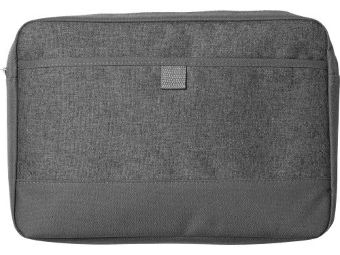 Laptop/Tablet-Tasche 'Barcelona' aus Polycanvas – Grau bedrucken, Art.-Nr. 003999999_2140