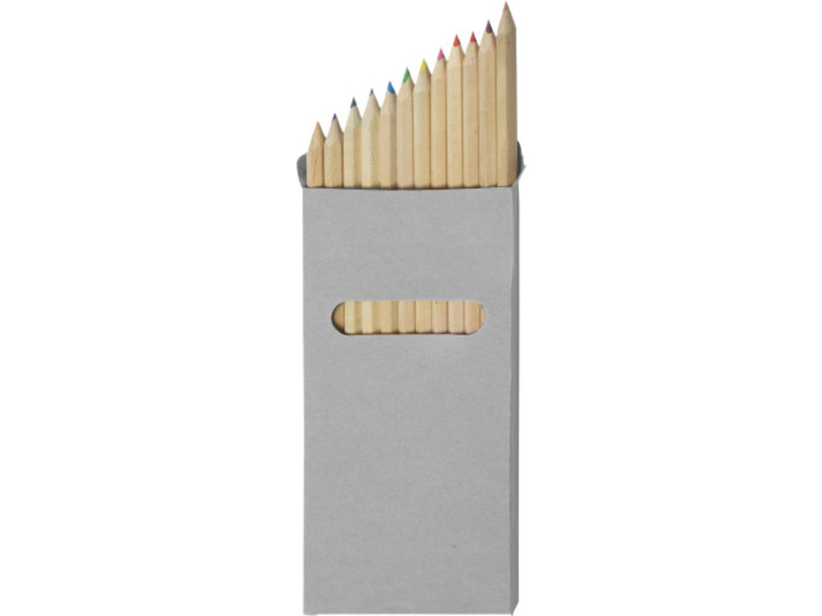 Buntstifte-Set 'Lisa' 12-tlg. – Neutral bedrucken, Art.-Nr. 999999999_2474