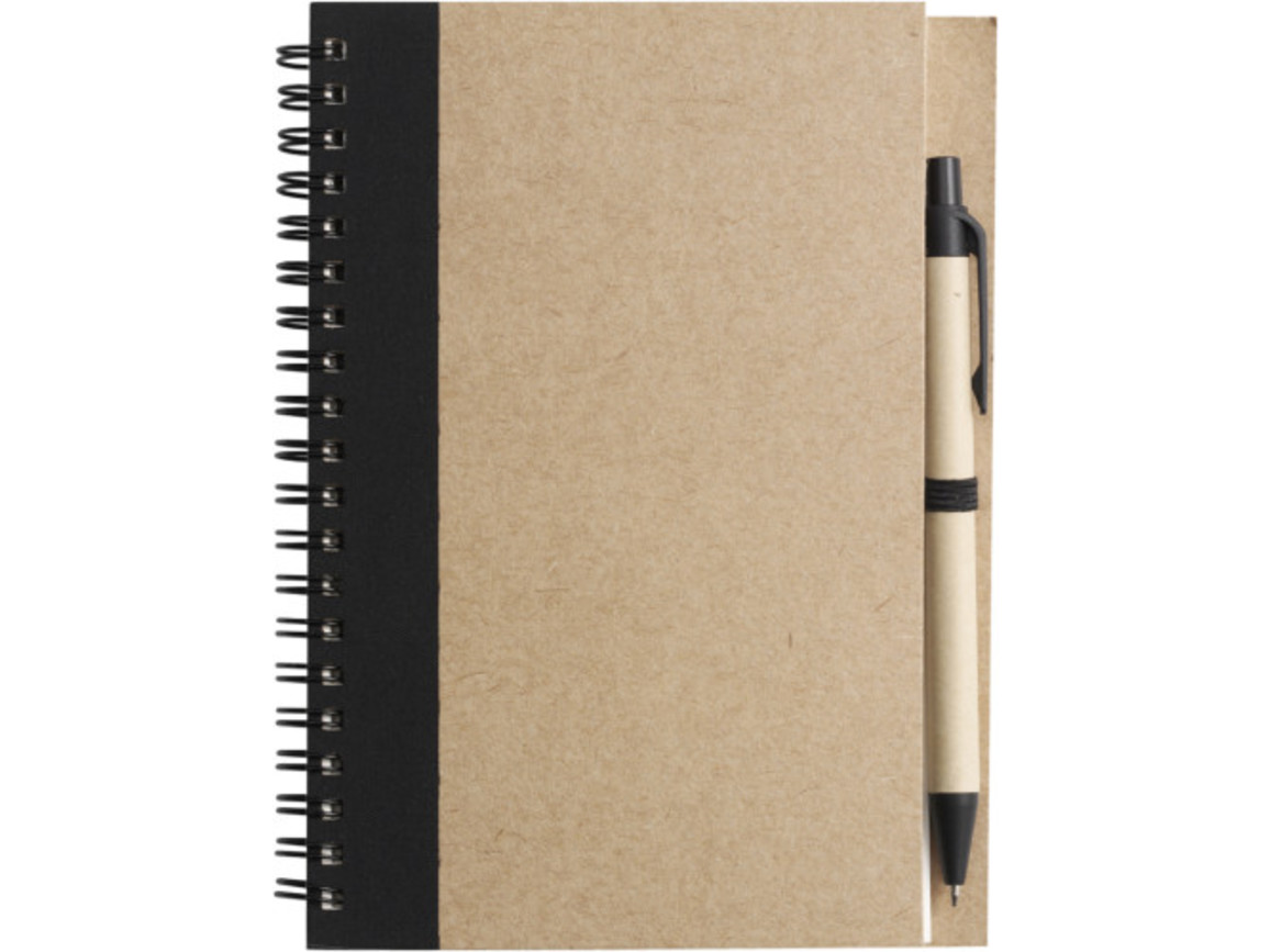 Notizbuch 'Freak' aus recyceltem Papier – Schwarz bedrucken, Art.-Nr. 001999999_2715