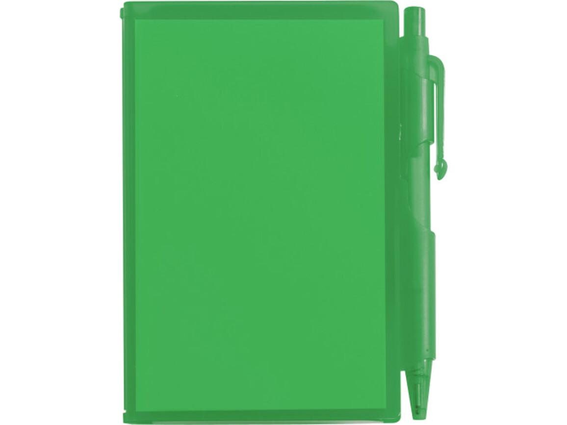 Notizbuch 'Agenda' aus Kunststoff – Grün bedrucken, Art.-Nr. 004999999_2736