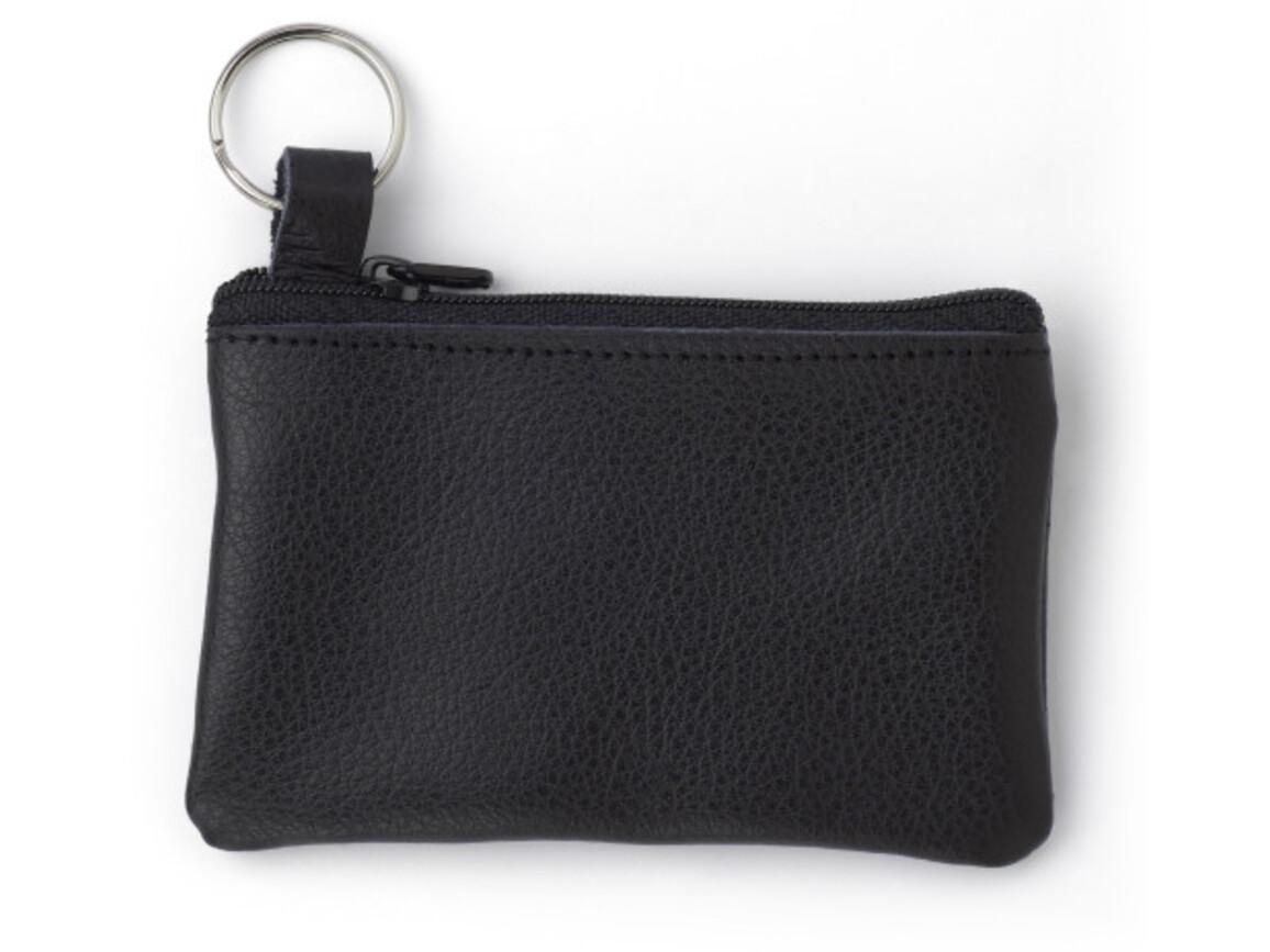 Schlüsseletui 'Comfortline' aus Leder – Schwarz bedrucken, Art.-Nr. 001999999_2762