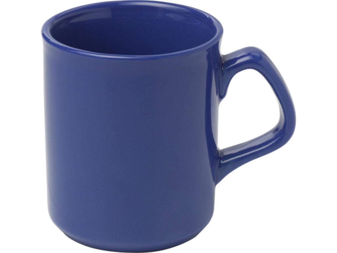 Becher 'Basic' aus Porzellan – Blau bedrucken, Art.-Nr. 005999999_2834