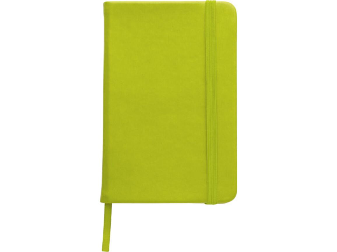 Notizbuch 'Color-Line' A5 aus PU – Hellgrün bedrucken, Art.-Nr. 029999999_3076