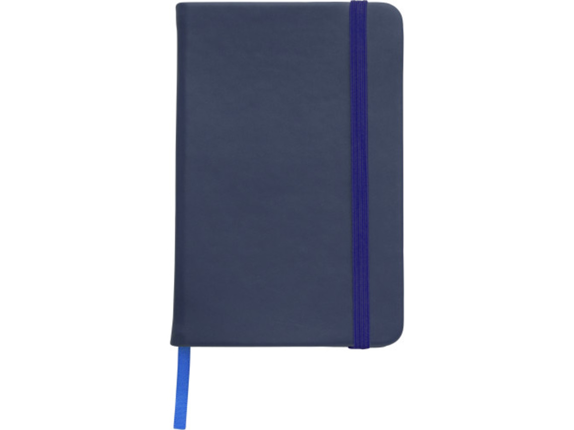 Notizbuch 'Color-Line' A5 aus PU – Blau bedrucken, Art.-Nr. 005999999_3076