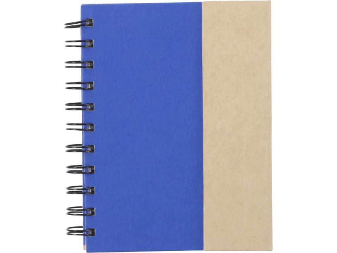 Notizbuch 'Remember' aus Karton – Kobaltblau bedrucken, Art.-Nr. 023999999_3099