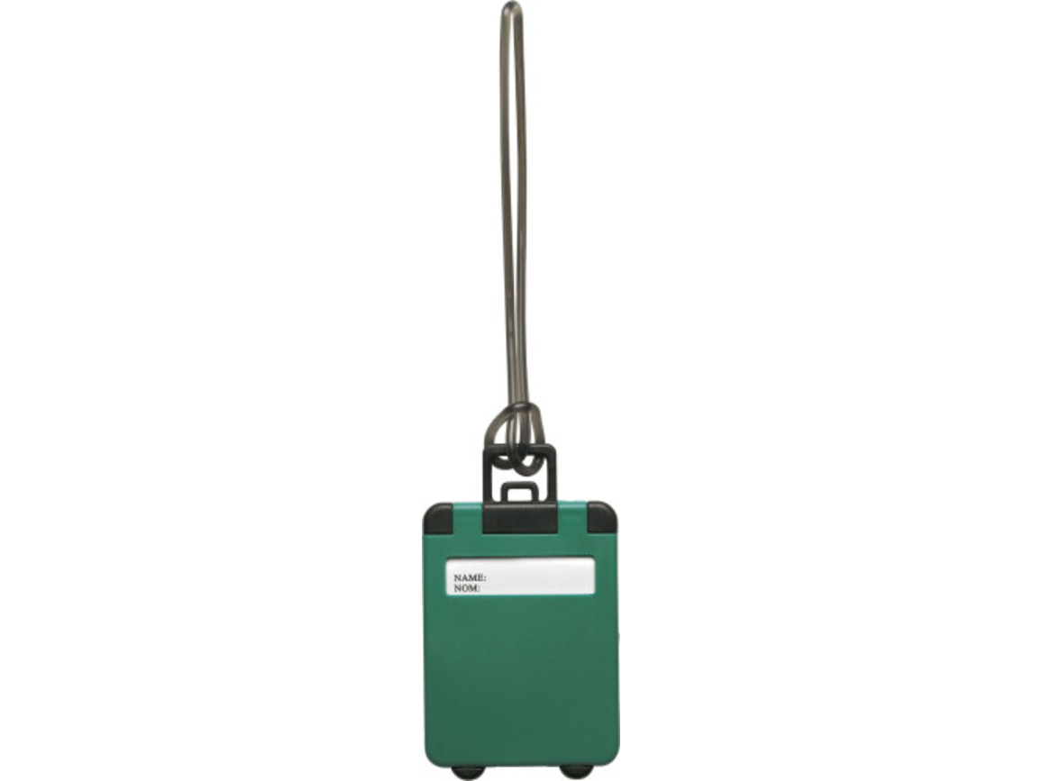 Kofferanhänger 'Gate' aus Kunststoff – Grün bedrucken, Art.-Nr. 004999999_3167