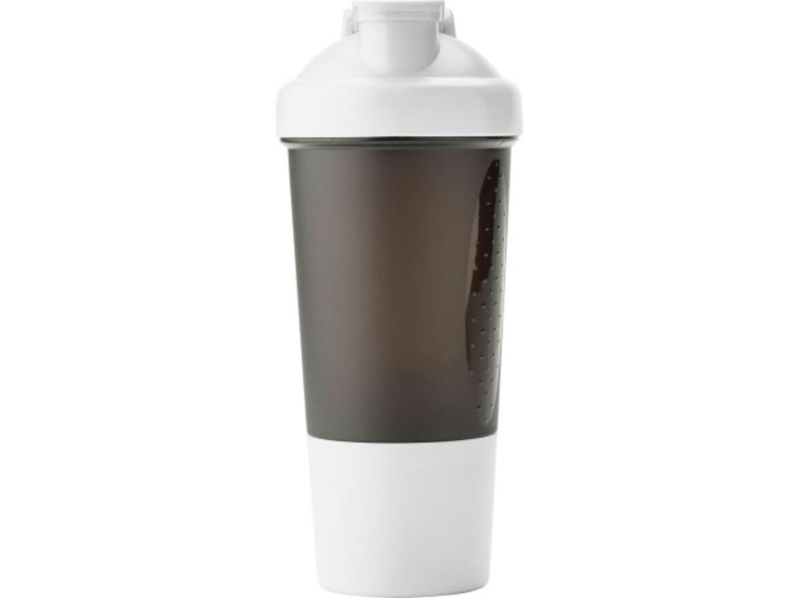 Proteinshaker 'Body' aus Kunststoff – Weiß bedrucken, Art.-Nr. 002999999_3202