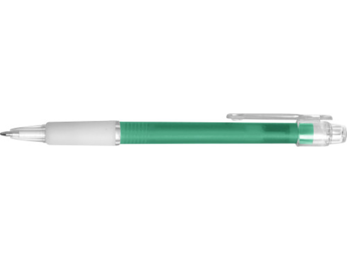 Kugelschreiber 'Carmen' aus Kunststoff – Grün bedrucken, Art.-Nr. 004999999_3321
