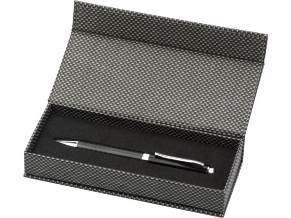 Kugelschreiber 'Klassik' aus Metall – Schwarz bedrucken, Art.-Nr. 001999999_3338