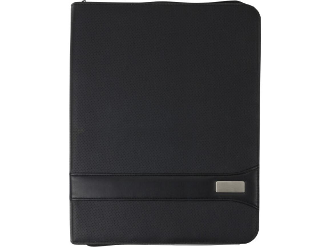 Dokumentenmappe 'Highline' aus PVC – Schwarz bedrucken, Art.-Nr. 001999999_3403