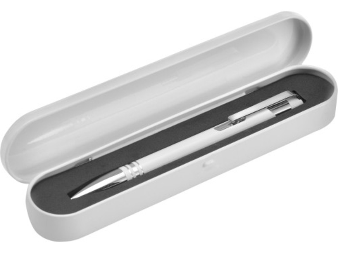 Kugelschreiber 'Ottawa' aus Aluminium – Weiß bedrucken, Art.-Nr. 002999999_3448