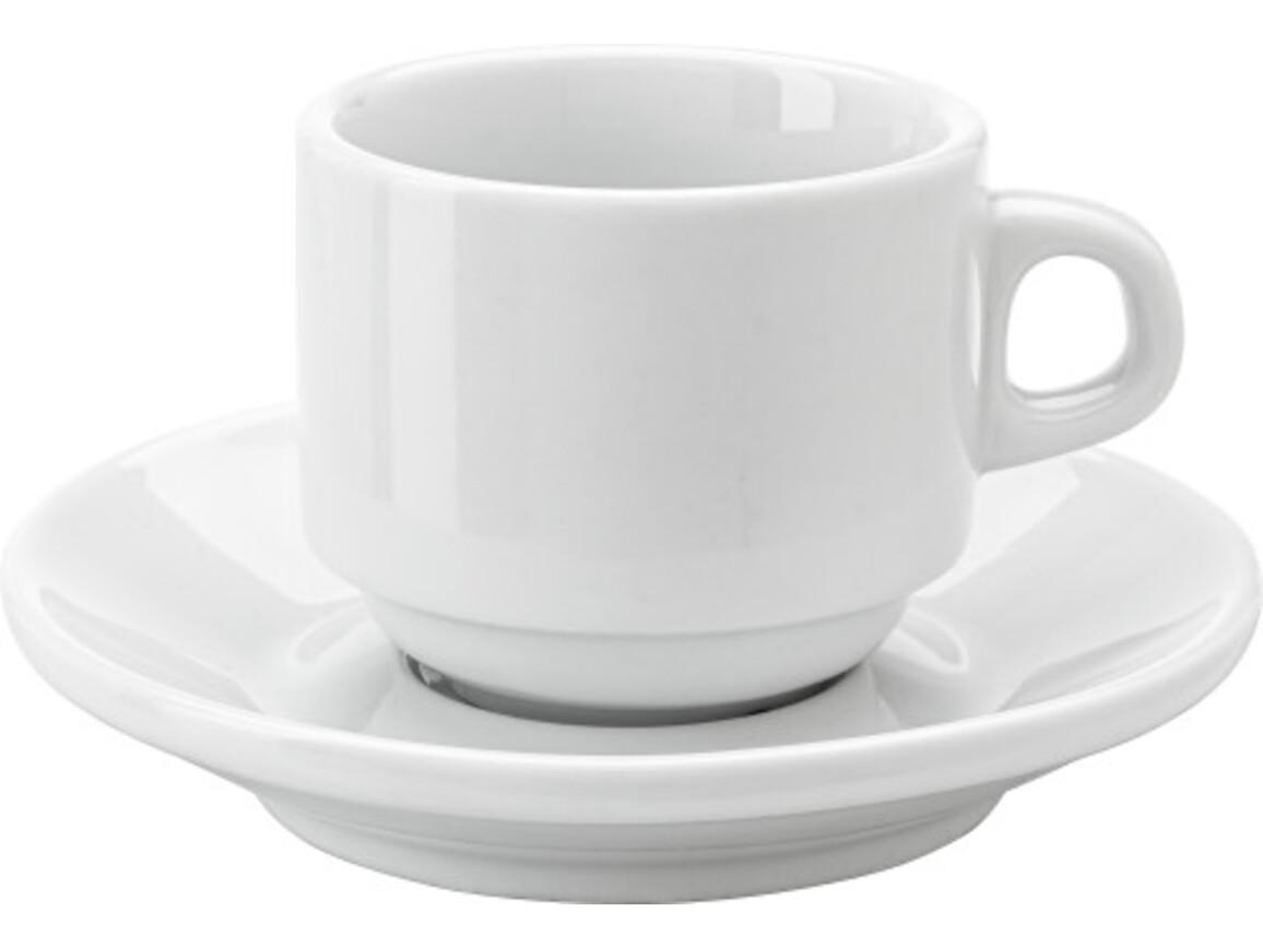 Espresso-Tasse 'Cannes' aus Porzellan – Weiß bedrucken, Art.-Nr. 002999999_3463