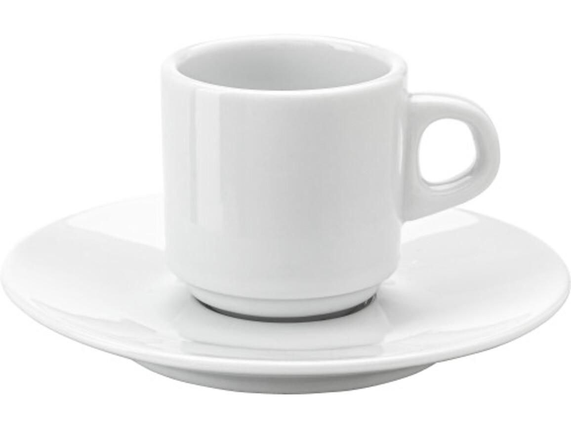 Espresso-Tasse 'Mio' aus Porzellan – Weiß bedrucken, Art.-Nr. 002999999_3474