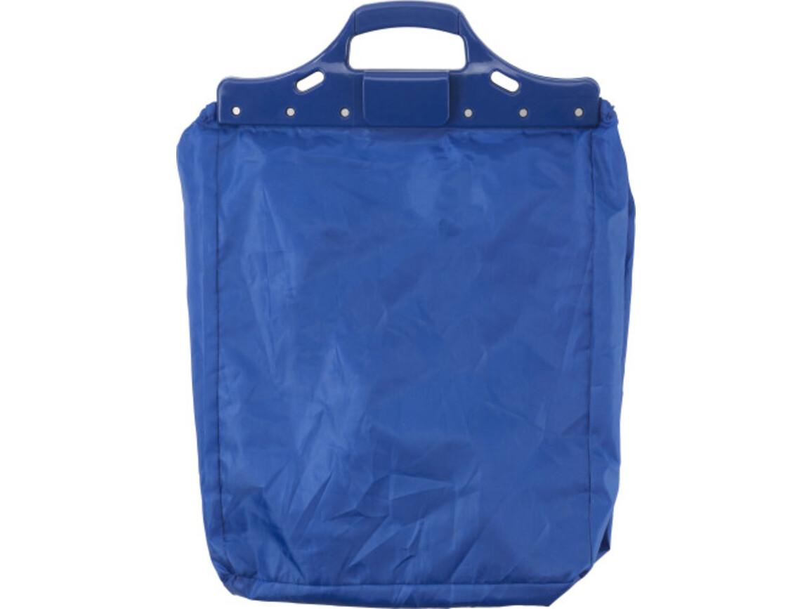 Einkaufswagentasche 'Maxi' aus Polyester – Kobaltblau bedrucken, Art.-Nr. 023999999_3575