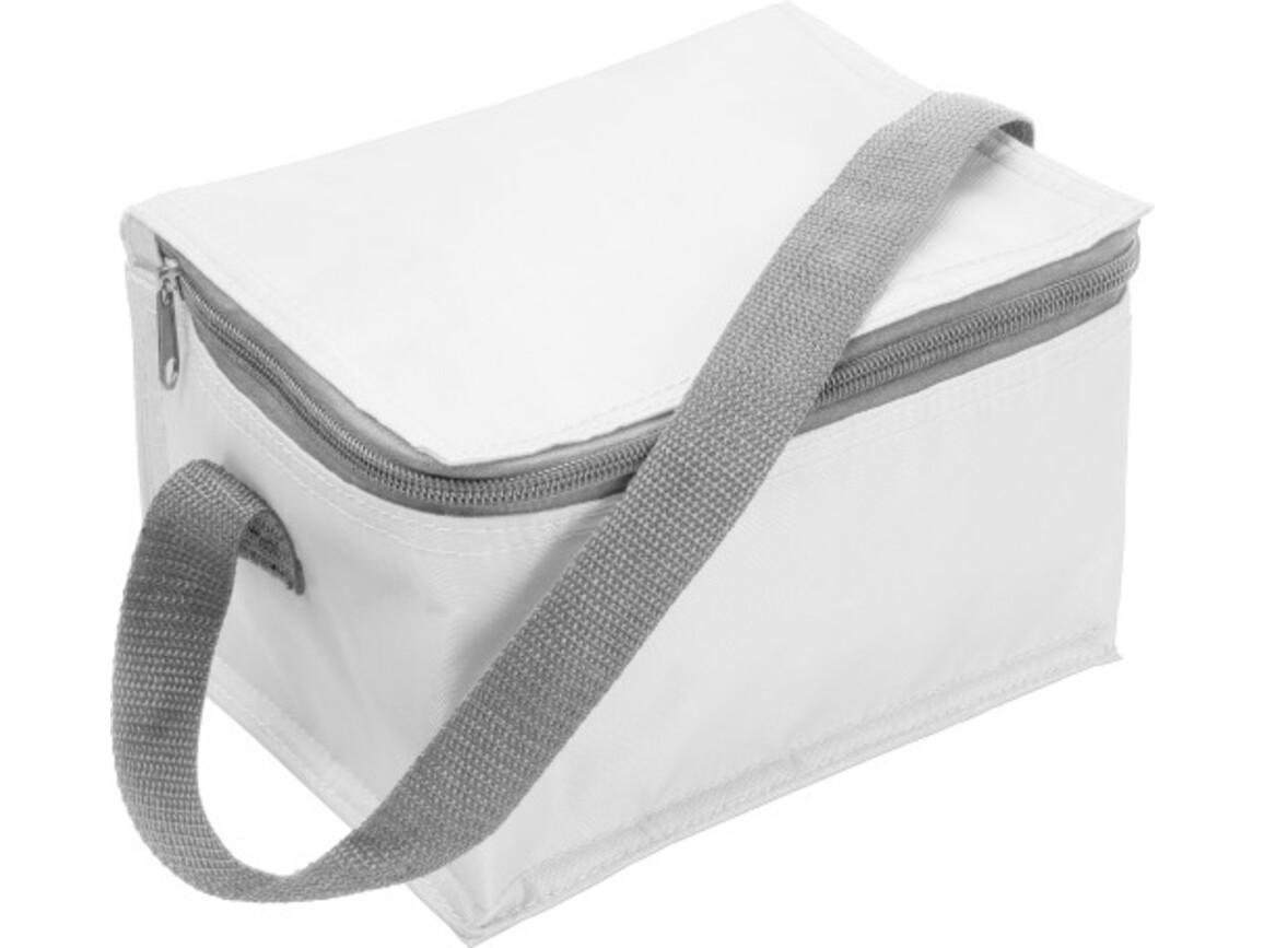 Kühltasche 'Ischgll' aus Polyester – Weiß bedrucken, Art.-Nr. 002999999_3604