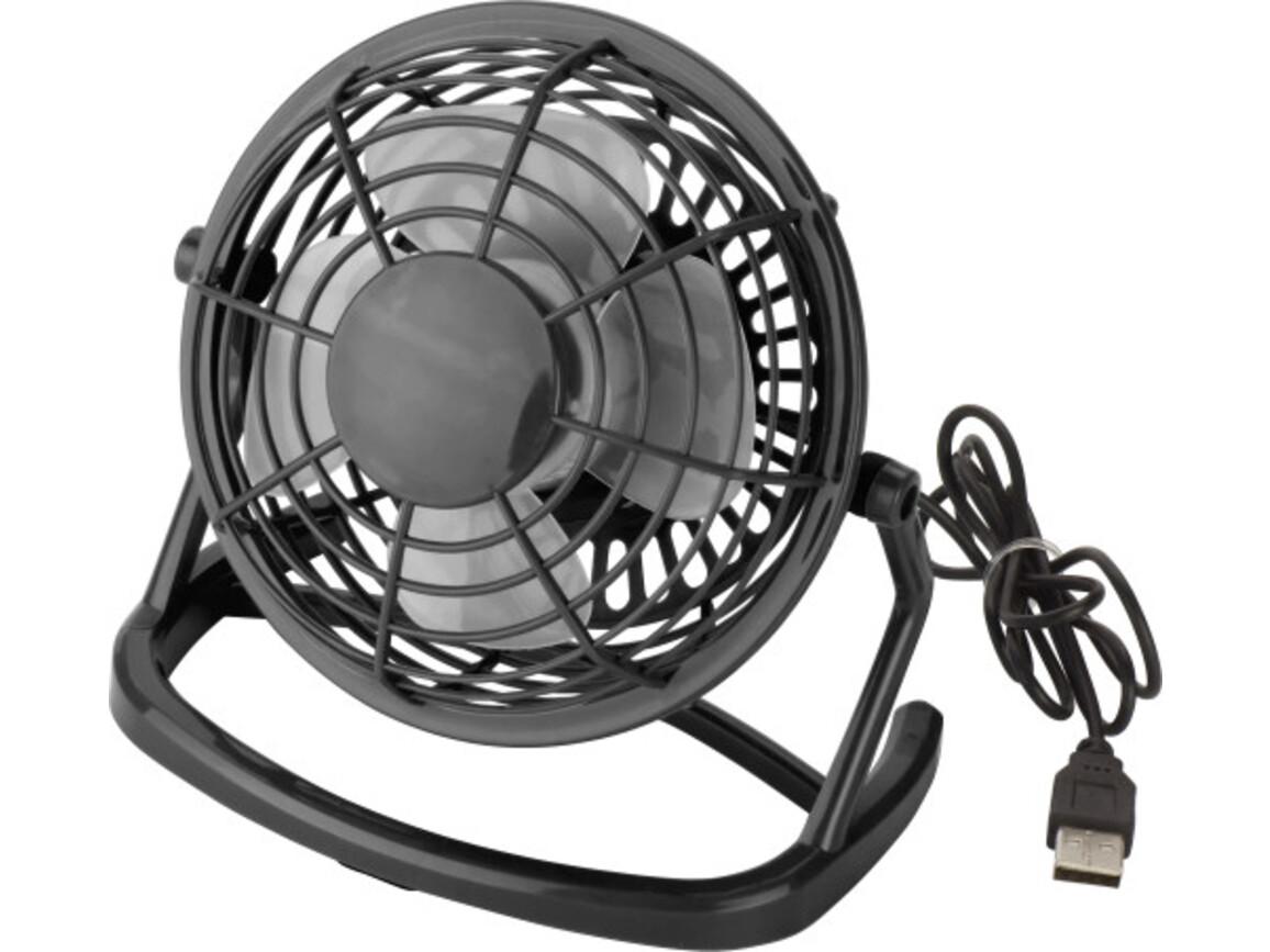 USB-Ventilator 'Hurricane' aus Kunststoff – Schwarz bedrucken, Art.-Nr. 001999999_3639