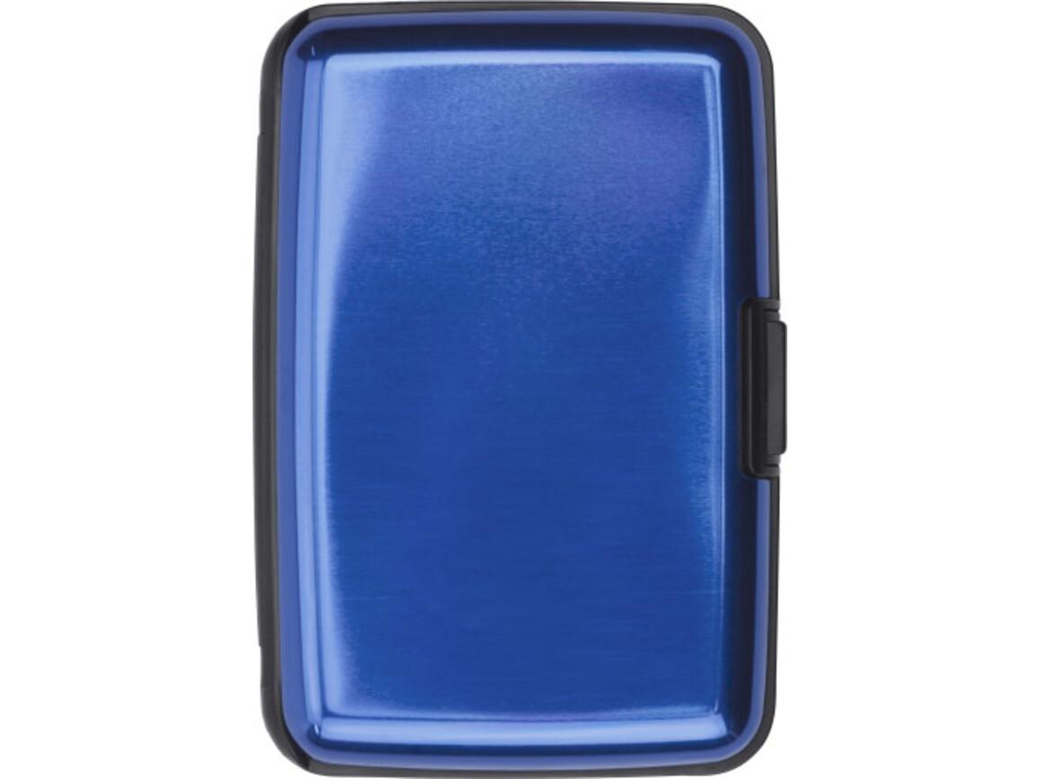 Visitenkartenhalter 'Suitcase' aus Aluminium – Kobaltblau bedrucken, Art.-Nr. 023999999_3750