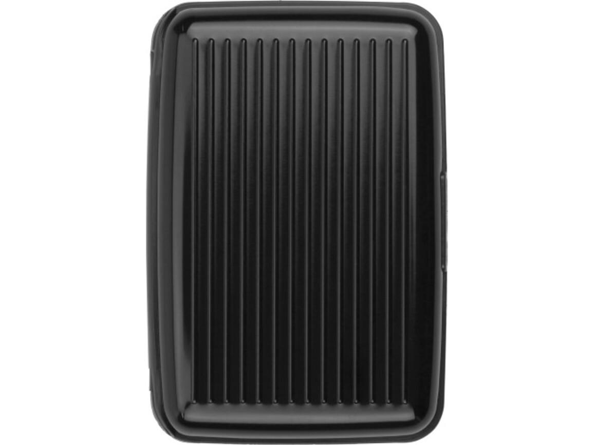Visitenkartenhalter 'Suitcase' aus Aluminium – Schwarz bedrucken, Art.-Nr. 001999999_3750