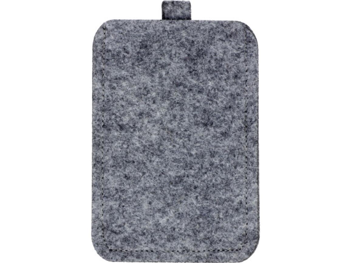 Handyhalter 'ColorLine' aus Filz – Grau bedrucken, Art.-Nr. 003999999_3760