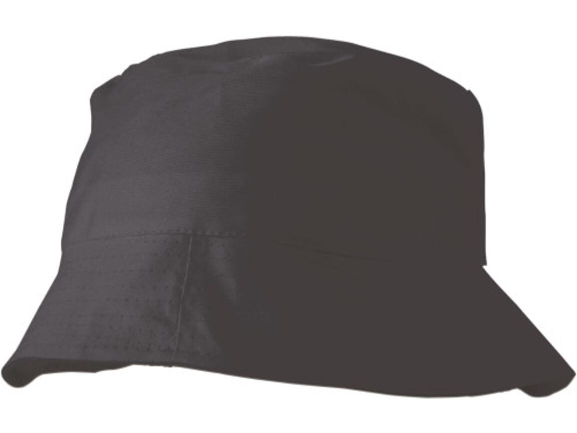 Sonnenhut 'Safari' aus 100% Baumwolle – Schwarz bedrucken, Art.-Nr. 001999999_3826