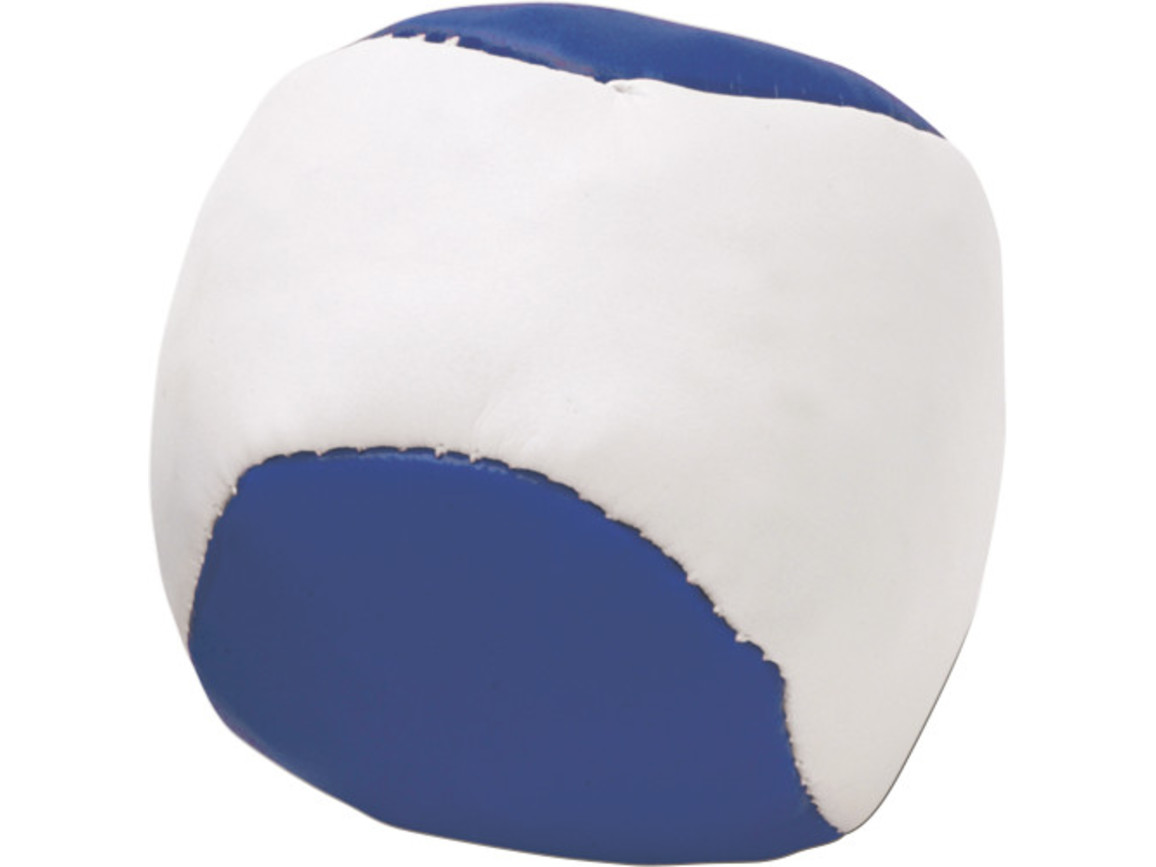 Jonglierball 'Single' aus Kunstleder – Blau bedrucken, Art.-Nr. 005999999_3956
