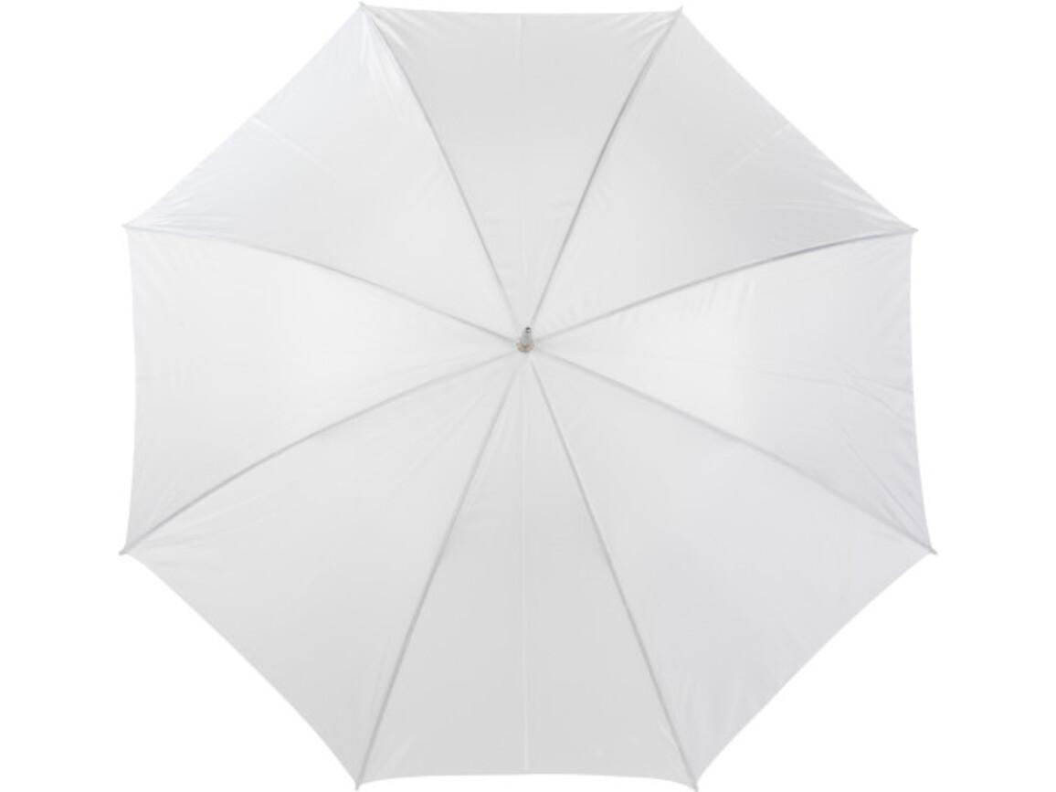 Portierschirm 'Harry' aus Polyester – Weiß bedrucken, Art.-Nr. 002999999_4066