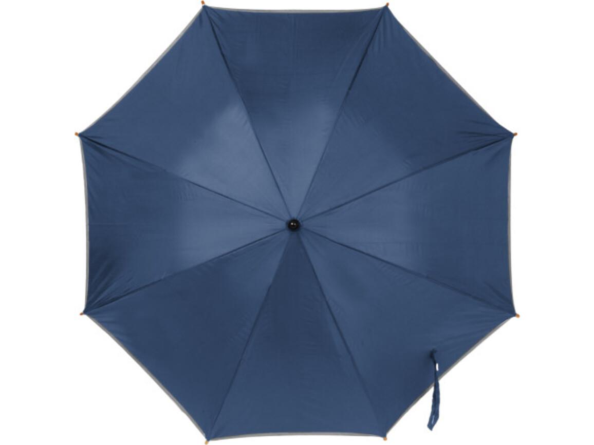 Automatik Stockschirm 'Elegant' aus Polyester – Blau bedrucken, Art.-Nr. 005999999_4068