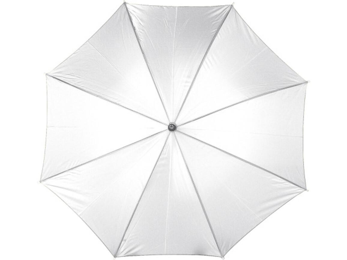 Automatik Stockschirm 'Square' aus Polyester – Weiß bedrucken, Art.-Nr. 002999999_4070
