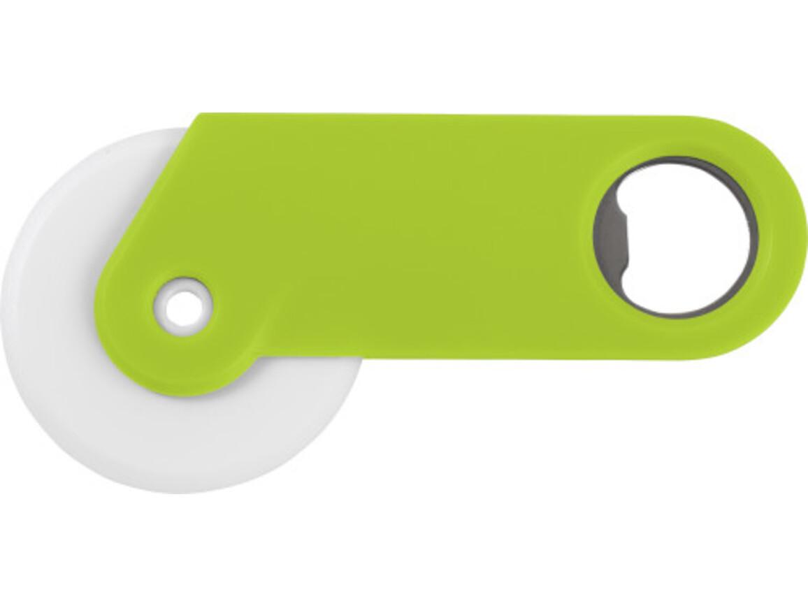 Pizzaschneider 'Osteria' aus Kunststoff – Grün bedrucken, Art.-Nr. 004999999_4109