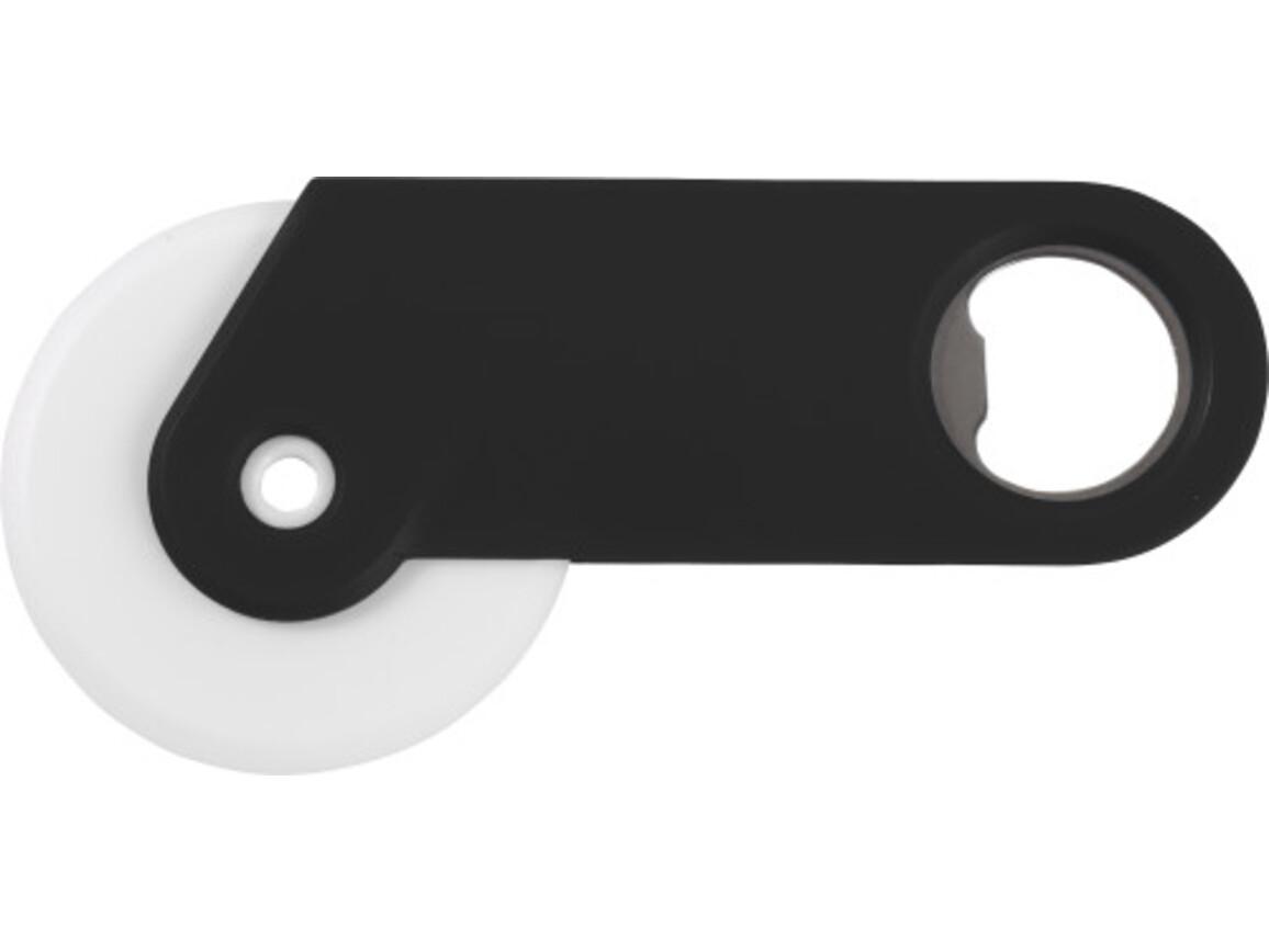 Pizzaschneider 'Osteria' aus Kunststoff – Schwarz bedrucken, Art.-Nr. 001999999_4109