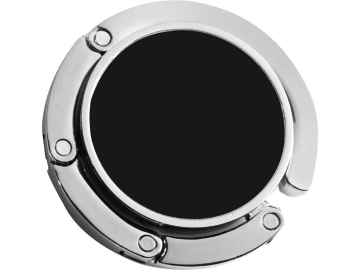 Taschen-/Jackenhalter 'Storm' aus Metall – Schwarz bedrucken, Art.-Nr. 001999999_4154