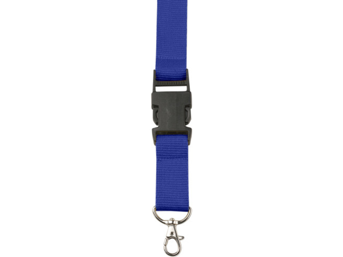 Lanyard 'Slam' aus Polyester – Kobaltblau bedrucken, Art.-Nr. 023999999_4161