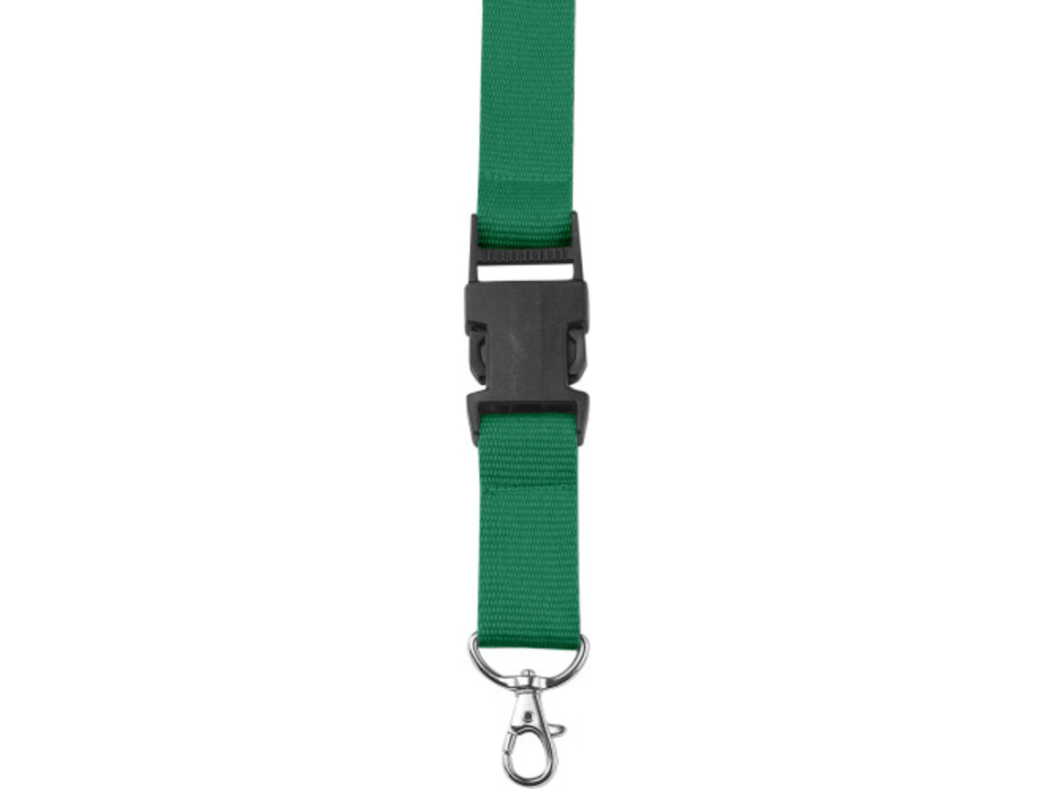 Lanyard 'Slam' aus Polyester – Grün bedrucken, Art.-Nr. 004999999_4161