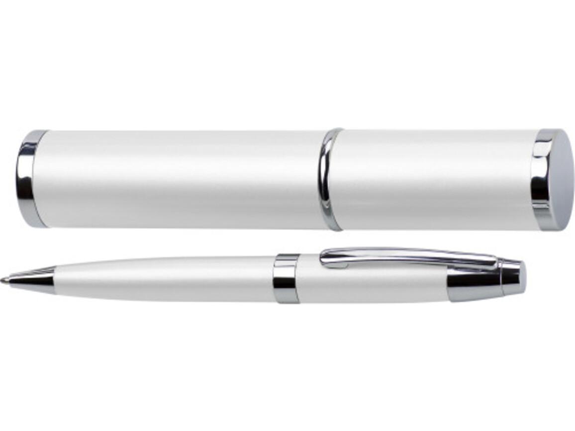 Kugelschreiber 'Big Daddy' aus Metall – Weiß bedrucken, Art.-Nr. 002999999_4580