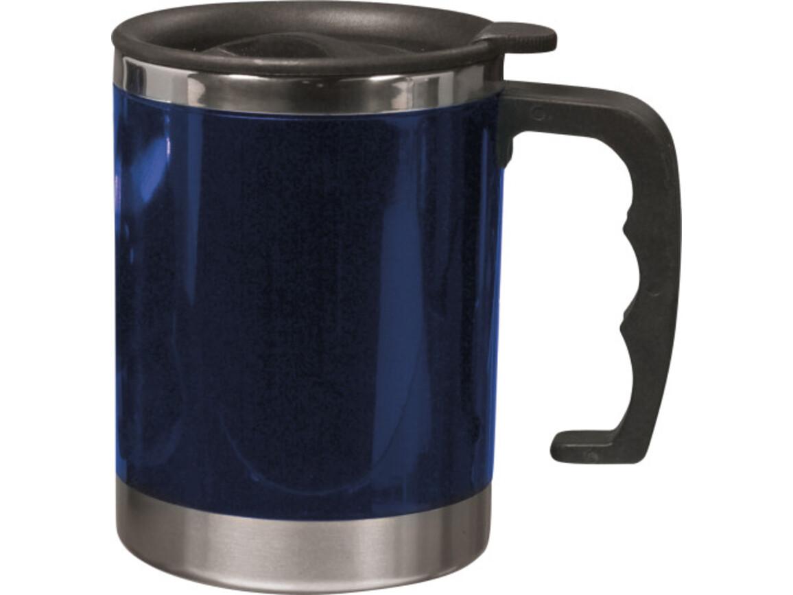 Trinkbecher 'Moskau' mit Deckel aus Kunststoff – Blau bedrucken, Art.-Nr. 005999999_4658