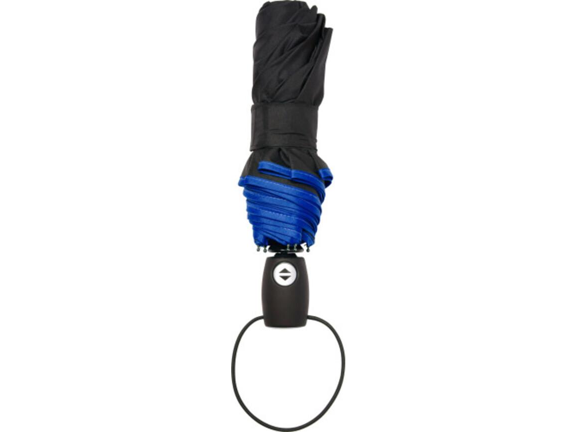 Automatik Taschenschirm 'Retro' aus Pongee-Polyester – Blau bedrucken, Art.-Nr. 005999999_4939