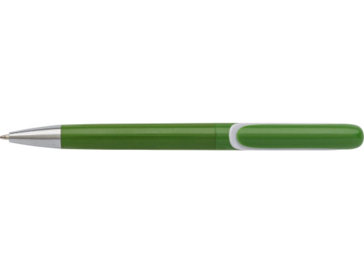 Kugelschreiber 'Lago' aus Kunststoff – Grün bedrucken, Art.-Nr. 004999999_4963