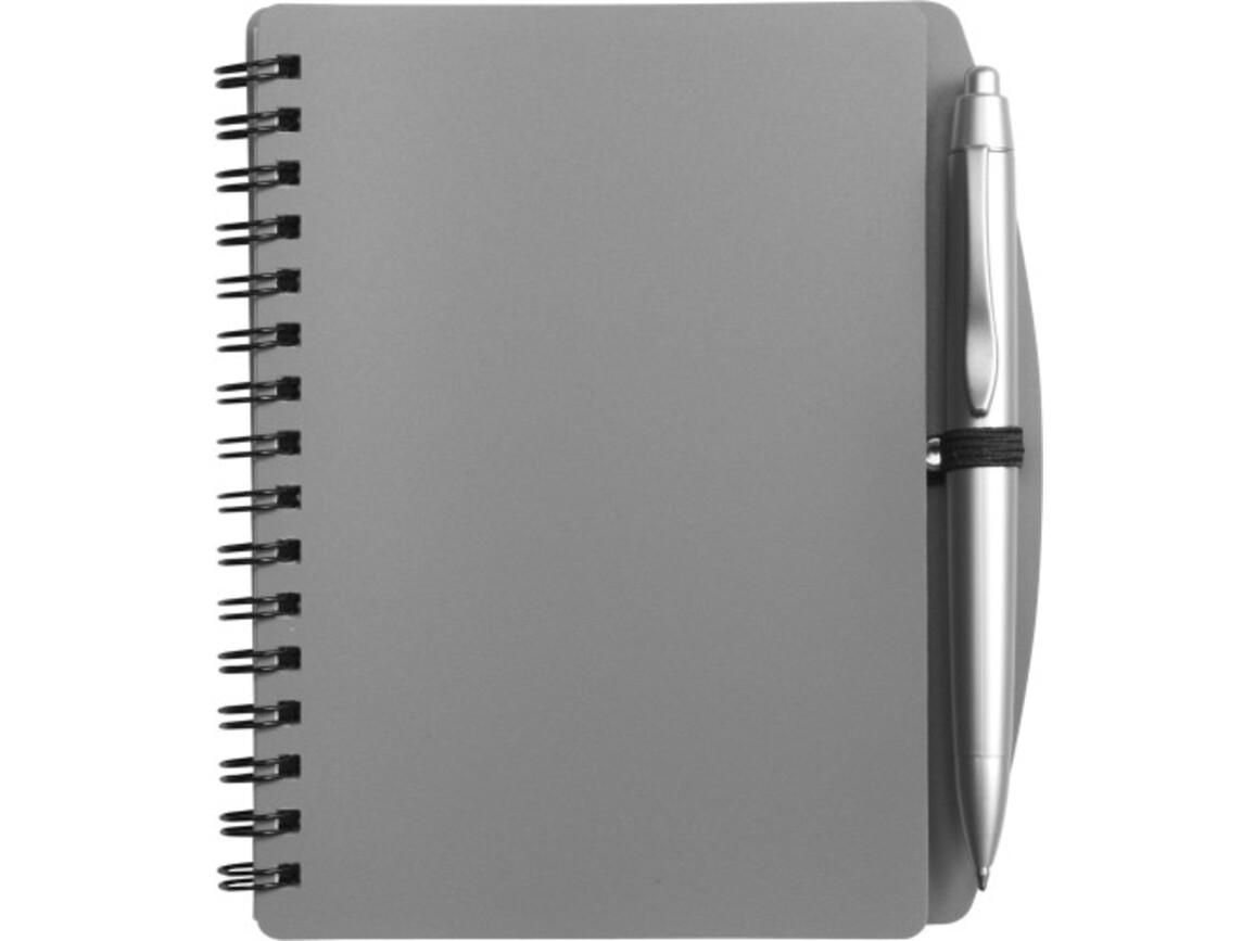 Notizbuch 'Spektrum' aus Kunststoff – Grau bedrucken, Art.-Nr. 003999999_5139