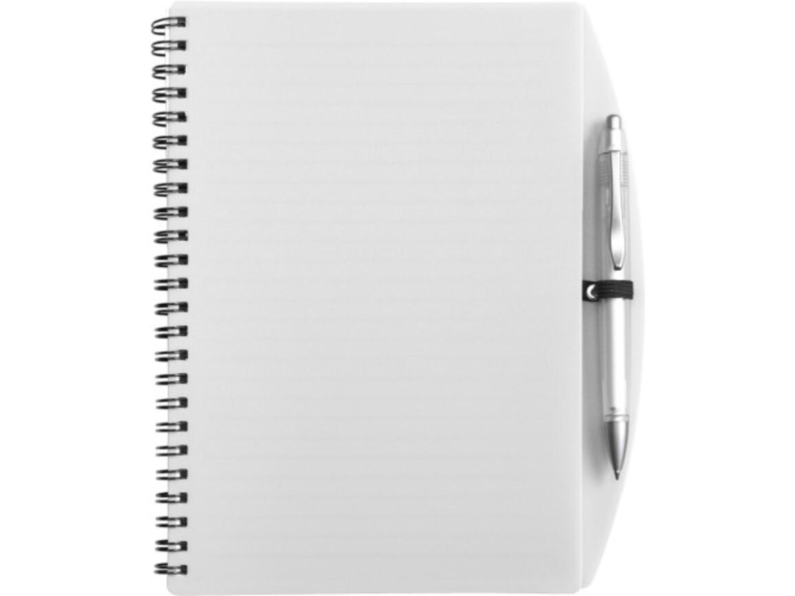 Notizbuch 'Spektrum' aus Kunststoff – Weiß bedrucken, Art.-Nr. 002999999_5140