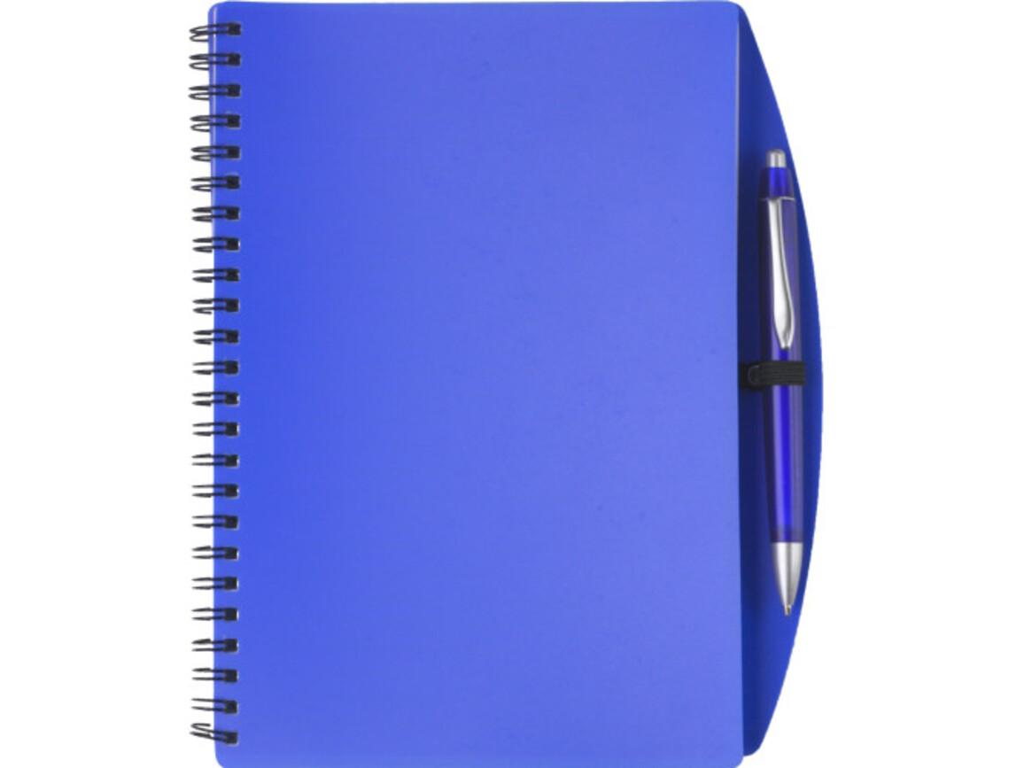 Notizbuch 'Spektrum' aus Kunststoff – Blau bedrucken, Art.-Nr. 005999999_5140