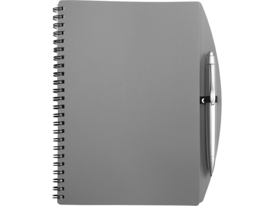 Notizbuch 'Spektrum' aus Kunststoff – Grau bedrucken, Art.-Nr. 003999999_5140