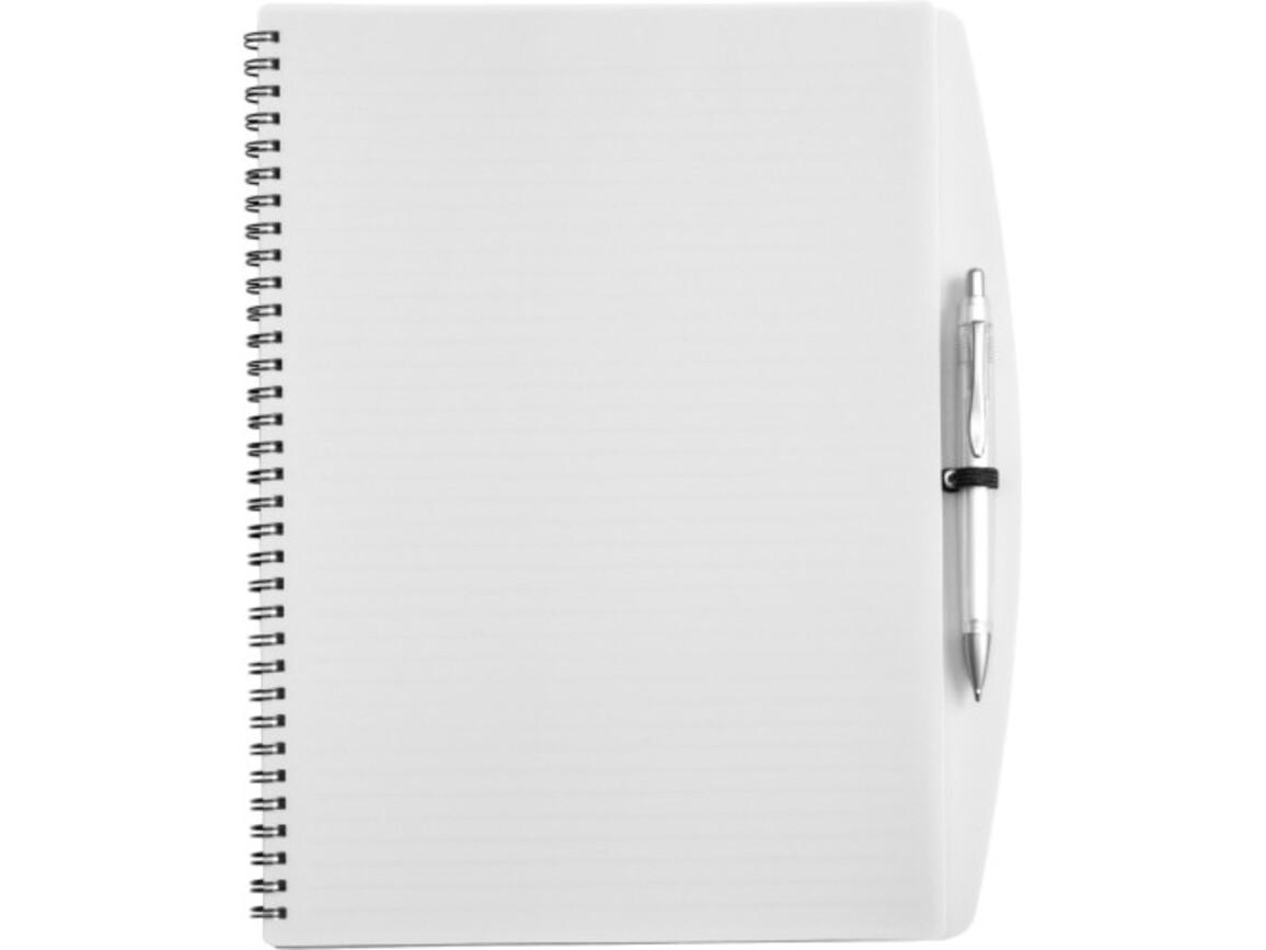 Notizbuch 'Spektrum' aus Kunststoff – Weiß bedrucken, Art.-Nr. 002999999_5141