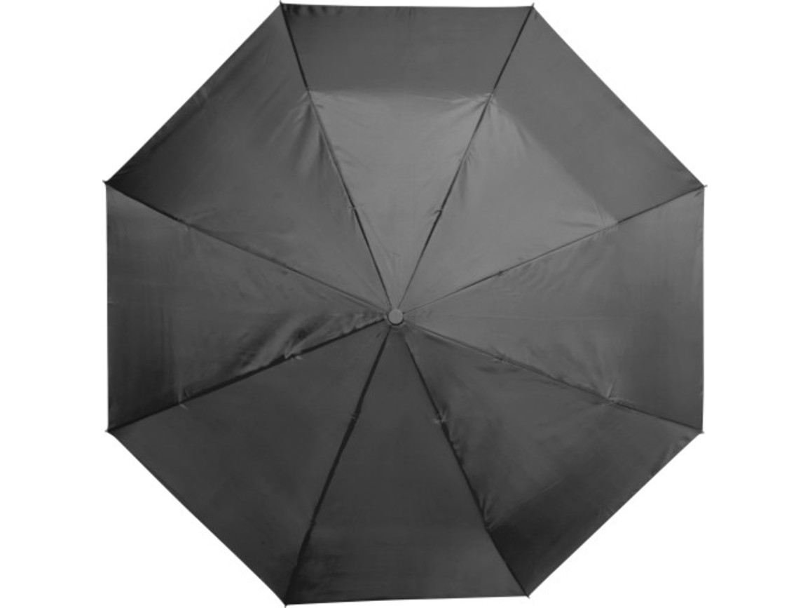 Automatik Taschenschirm 'Star' aus Polyester – Schwarz bedrucken, Art.-Nr. 001999999_5215