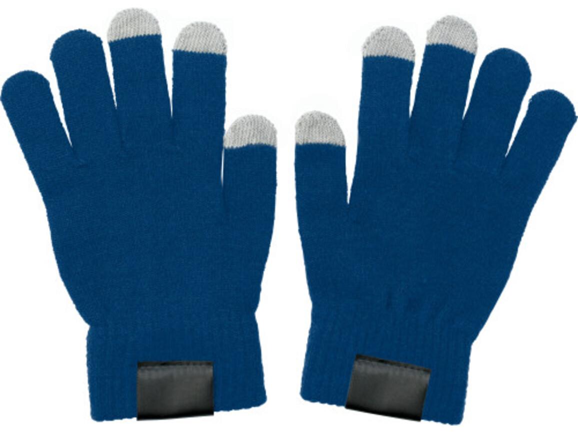 Handschuhe 'Touch' aus Acryl – Blau bedrucken, Art.-Nr. 005999999_5350