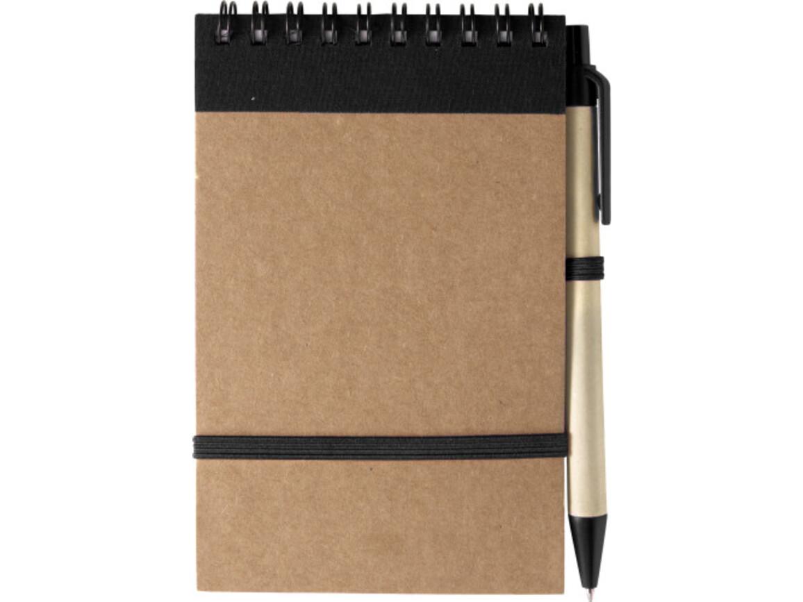 Notizbuch 'Pocket' aus recyceltem Karton – Schwarz bedrucken, Art.-Nr. 001999999_5410